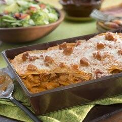 Enchiladas Rosa de Camarones y Chorizo
