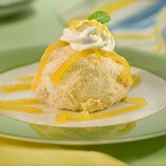 Sundaes de pastel de limón y merengue