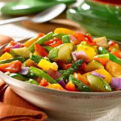 Sauteed Basil & Garlic Vegetables