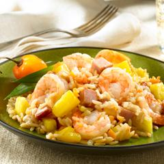 Spicy Tropical Coconut Rice With Shrimp