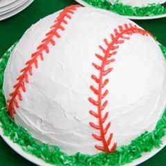 Gâteau Glacé en Forme de Balle de Baseball