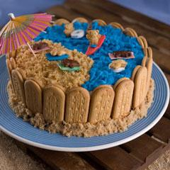 Day-At-The-Beach Ice Cream Cake