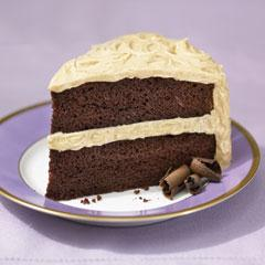 Super-Moist Chocolate Cake with Fluffy Peanut Butter Frosting