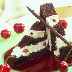 Cherry Chocolate Ice Cream Cake