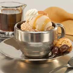 Minisundaes de helado de café