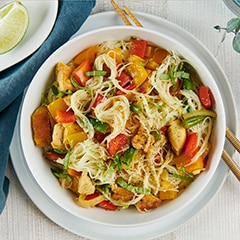 Thai Basil Chicken With Coconut Lime Curry
