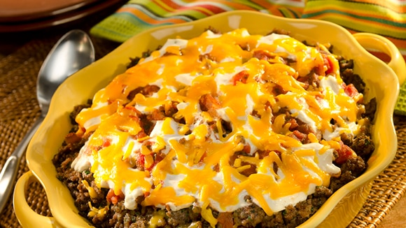 Mexican Beef & Corn Casserole
