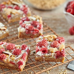 Raspberry Coconut Breakfast Bars