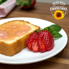 Molten Strawberry Butter Pound Cake