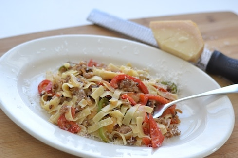 Sausage & Peppers Alfredo