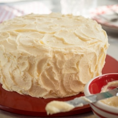 Easiest Ever Fluffy Vanilla Layer  Cake