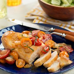 Warm Tomato Bruschetta Chicken