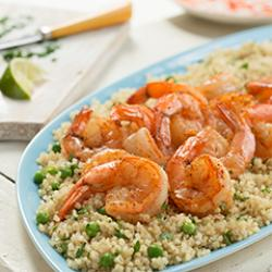 Chili-Lime Shrimp Over Quinoa