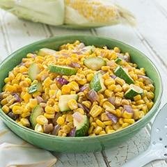 Charred Corn & Zucchini Saute