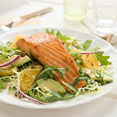 Warm Salmon, Avocado & Orange Salad