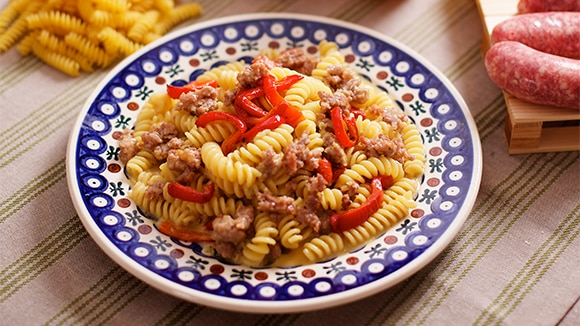 Sausage & Pepper Pasta Dinner