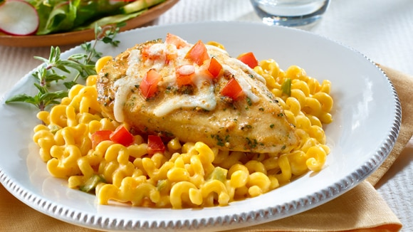 Cheesy Chicken with Pasta