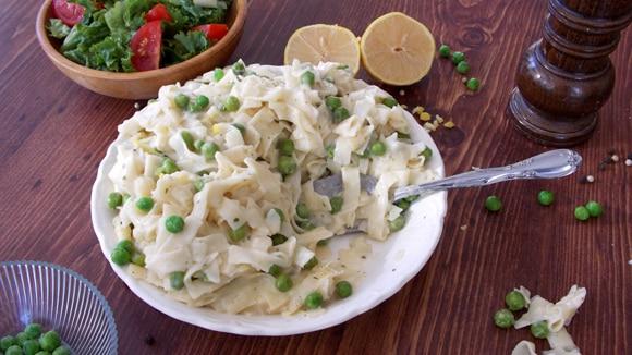 Lemony Noodles & Peas