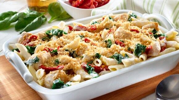 Home Recipes Chicken & Pasta Florentine Casserole