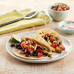 It's Vegan! Black Bean Soft Shell Tacos
