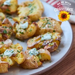 Easy Smashed Potatoes