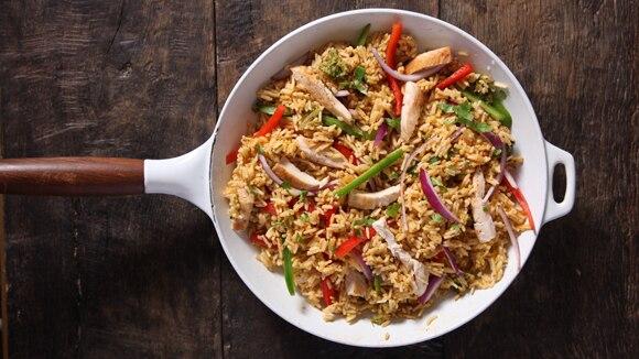 Fajita Chicken & Rice Skillet