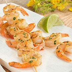 Grilled Cilantro Dijon Shrimp with Buttery Glaze