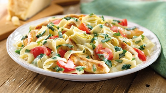 Recipe for pasta dishes