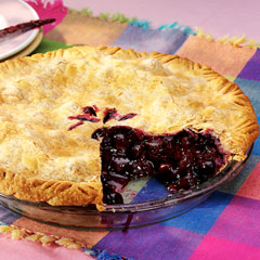 Buttery Blueberry-Peach Pie