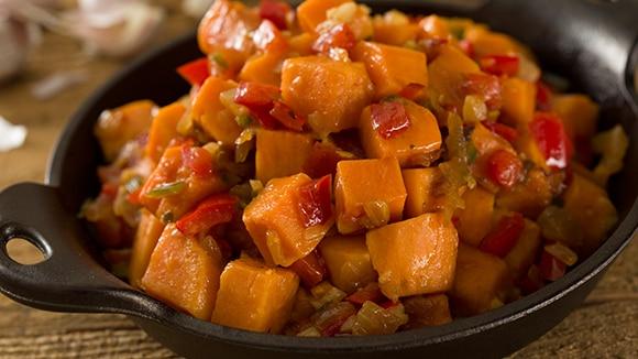 Holiday Skillet Sweet Potatoes