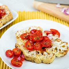 Cauliflower Steaks Bruschetta