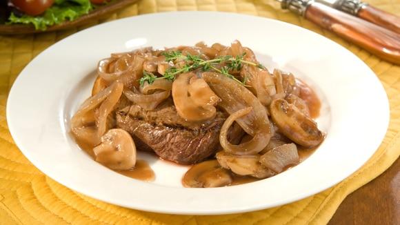 Onion & Mushroom Smothered Steaks
