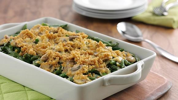 Savory Green Bean & Mushroom Casserole