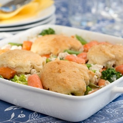 Biscuit-Topped Chicken & Vegetable Casserole
