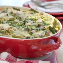 Asparagus, Peas & Swiss Cheese Casserole