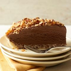 Pastel alemán de chocolate helado con Breyers® Chocolate Ice Cream sin gluten