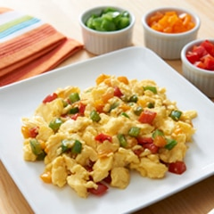 Fluffy Scrambled Eggs-Rainbow Style
