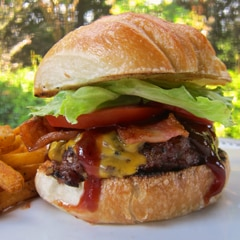Double Bacon Cheddar Smokehouse Burger