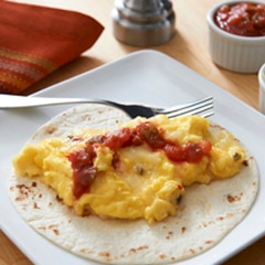 Fluffy Scrambled Eggs-Mexican Style