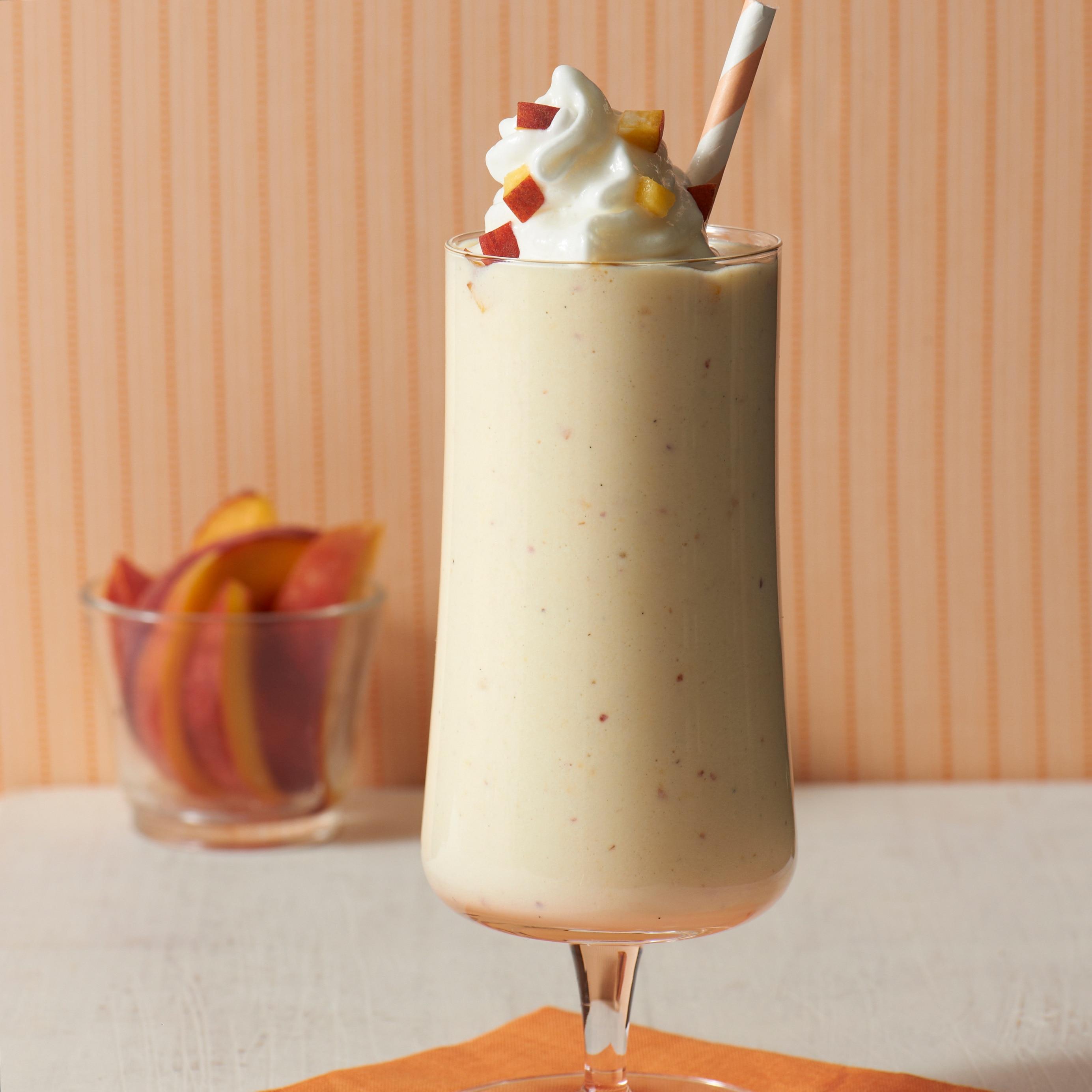 Milkshakes de Pêches Glacées et Crème