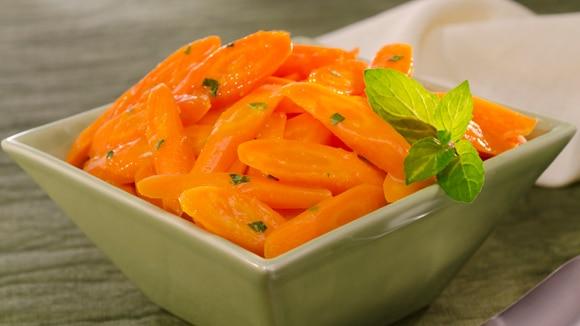 Carottes glacées à l'orange