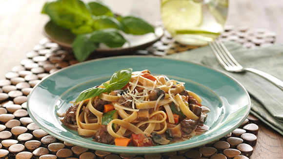 Beef  and Vegetable Fettuccine