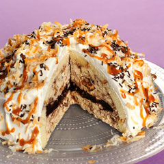 Samoas Ice Cream Bombe