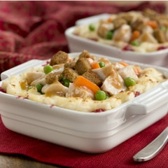Upside-Down Hot Turkey Sandwich Casserole