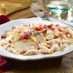 Fresh Tomato Chicken with Penne
