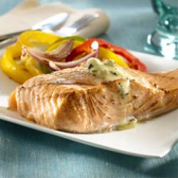 Grilled Salmon with Lemon-Herb Spread