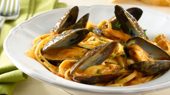 Parma-Rosa® Mussels and Linguine