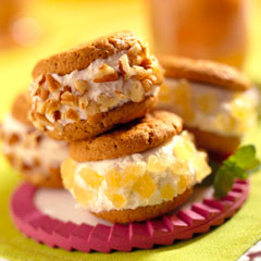 Ginger Ice Cream Sandwiches