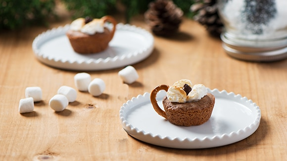 Becel Anything Goes Cookie Dough Hot Chocolate Cookie Cups