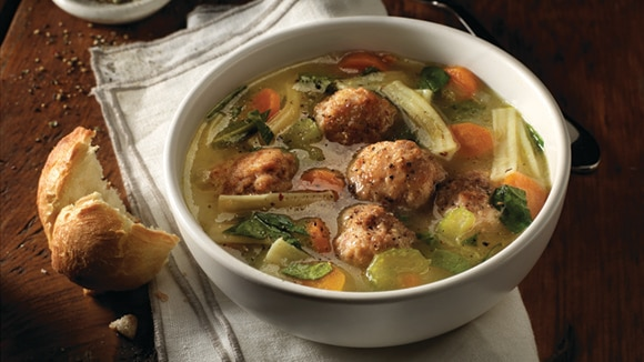 Homemade Chicken Meatball Noodle Soup